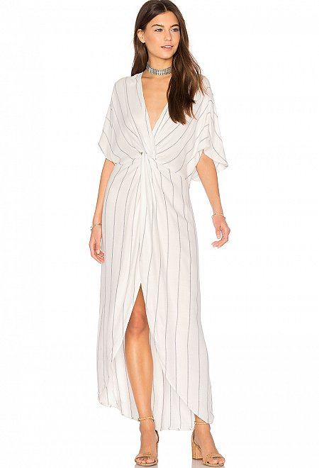 Twisted Front Maxi Dress