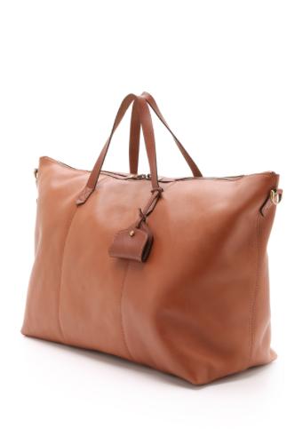 Leather Weekender Travel Bag