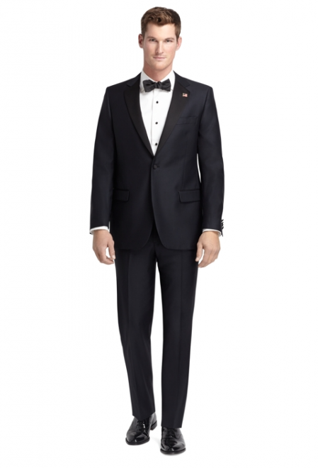 1818 One-Button Fitzgerald Navy Blue Tuxedo