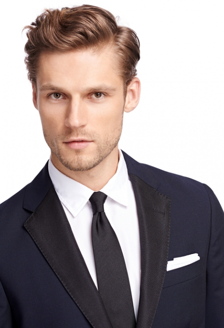 Midnight Blue One-Button Tuxedo Jacket