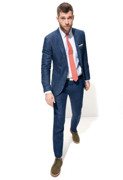 Ludlow Suit Jacket in Heathered Italian Wool