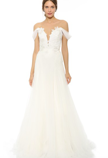 Off the Shoulder Marchesa Gown