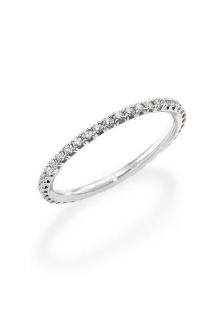 Delicate Diamond Wedding Band by De Beers