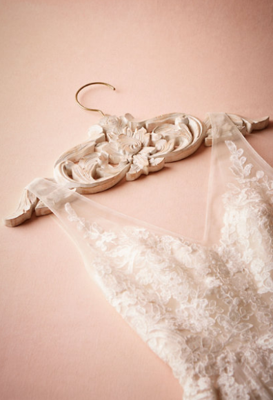 Carved Wood Wedding Dress Hanger
