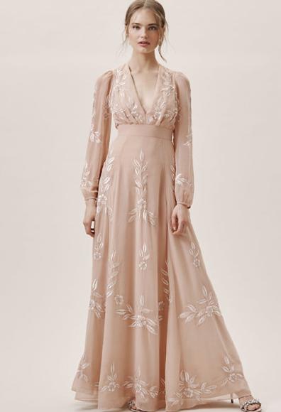 Embrioded Blush Dress