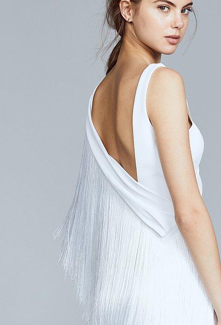 Fringe Midi Dress