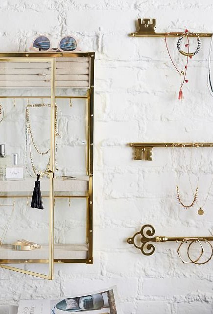 Brass and Glass Jewelry Display