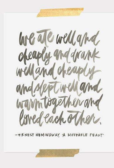Ernest Hemingway Print by ohmydeer