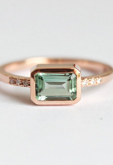 EMERALD CUT RING TOURMALINE