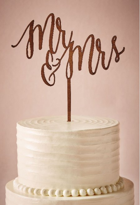 BHLDN Mr & Mrs Cake Topper