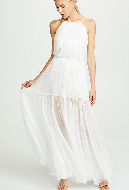 Silk Chiffon Calypso Gown