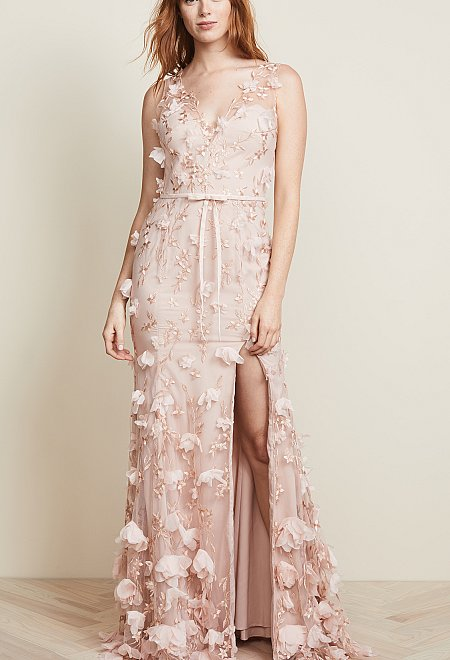 Blush 3D Marchesa Gown