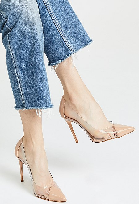 Pointed Toe Clear Heels