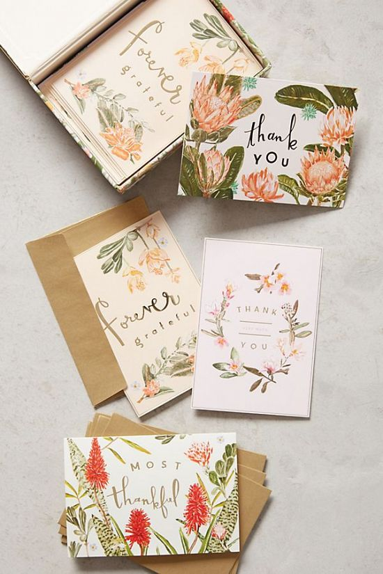 Floral Thank You Cards