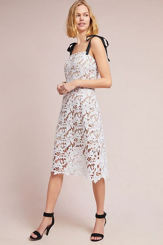 Lace Column Dress by Donna Morgan