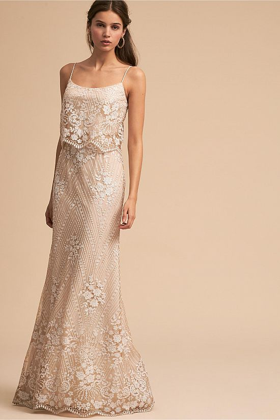 Embroidered Lace Dress in Ivory