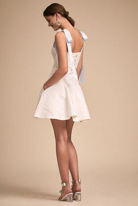 Mini Brenta Dress with Bow Straps