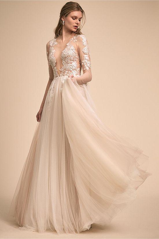 Sondrin Lace Illusion Dress