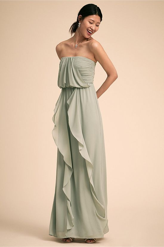 Cove Strapless Ruffle Dress