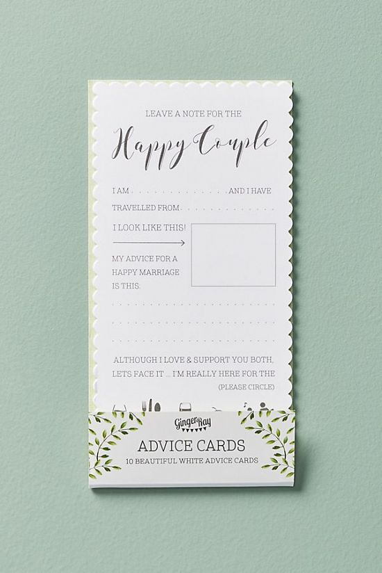 Shower Games: Couple Advice Cards
