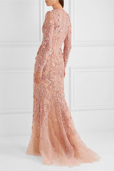 EMBELLISHED SILK-TULLE GOWN