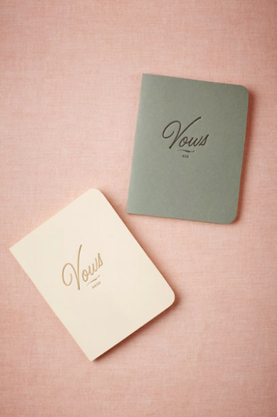 Letterpress Vow Journals