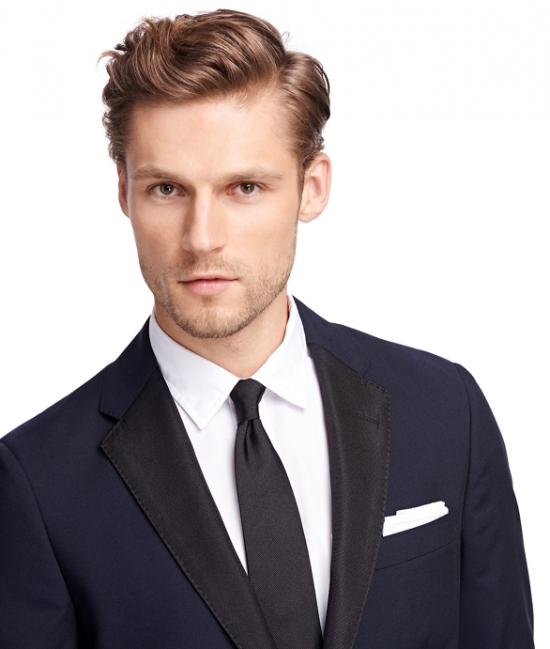 Midnight Blue One-Button Tuxedo Jacket