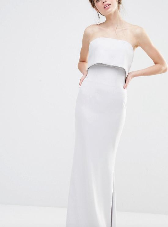 Fishtail and Bow Back Maxi Dress