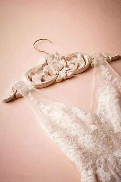 Carved Wood Wedding Dress Hanger