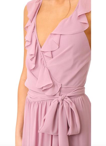 Lacey Ruffle Wrap Dress