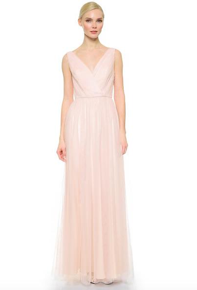 Shirred V Neck Dress