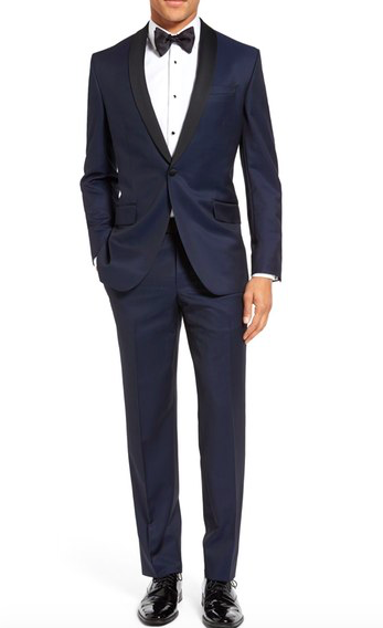 Trim Fit Navy Shawl Lapel Tuxedo