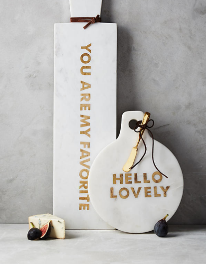 GILDED GREETINGS CHEESE BOARD