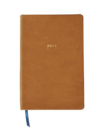 Dapperdesk 2017 Leather Planner