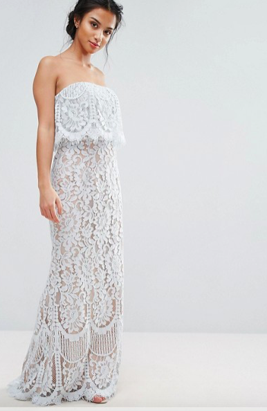 All Over Lace Bandeau Dress