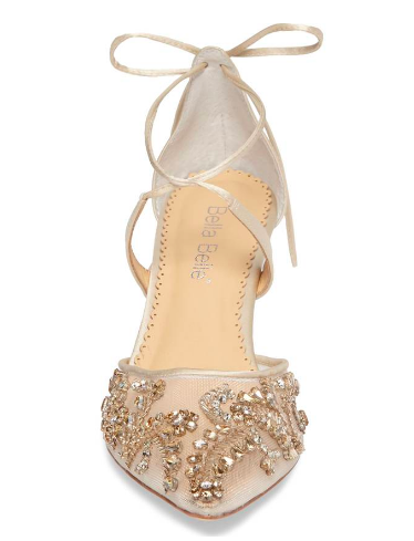 Bella Belle Frances Embellished Kitten Heel Pump