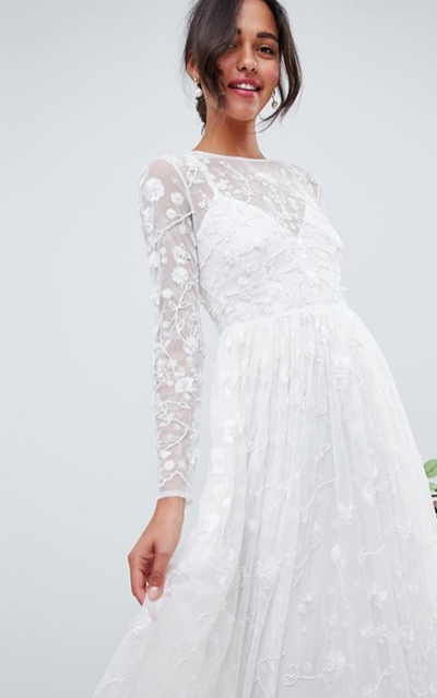 Embellished and Embroidered Dress