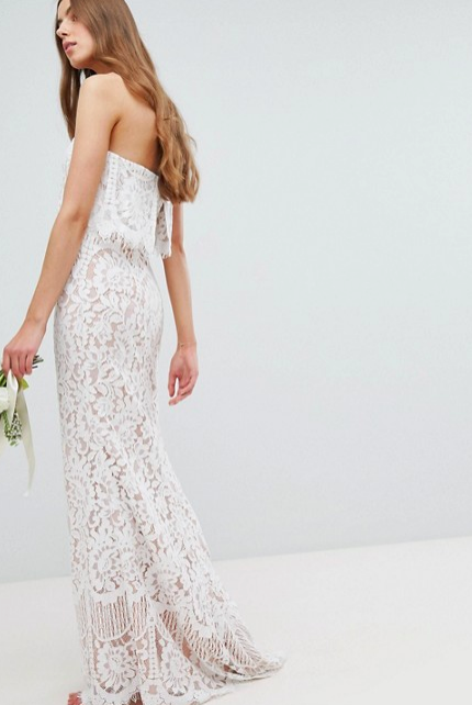 All Over Lace Strapless Dress
