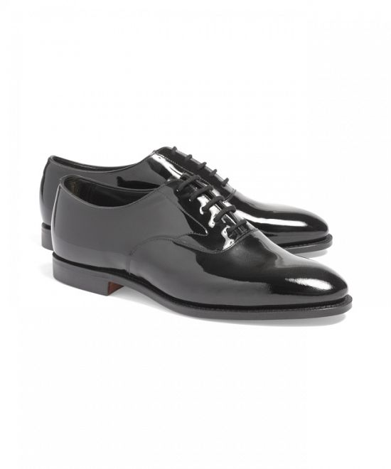 Black Patent Leather Lace-Up Dress Shoes