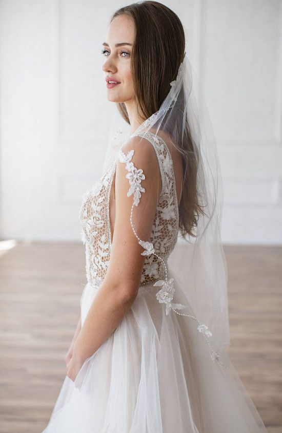 Mikaela Embellished Tulle Veil