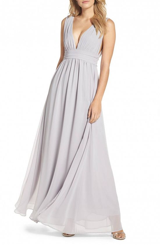 Plunge V-Neck Bridesmaid Dress