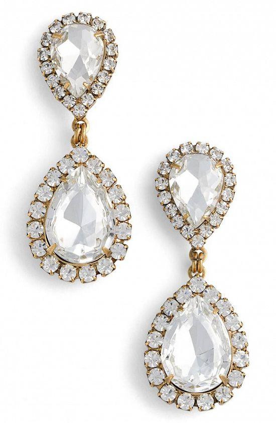 Abba Crystal Drop Earrings