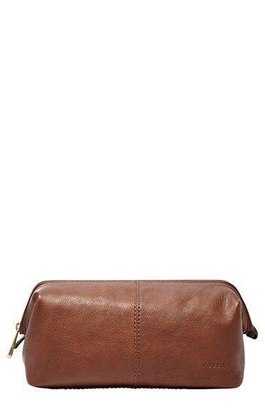 Leather framed travel kit