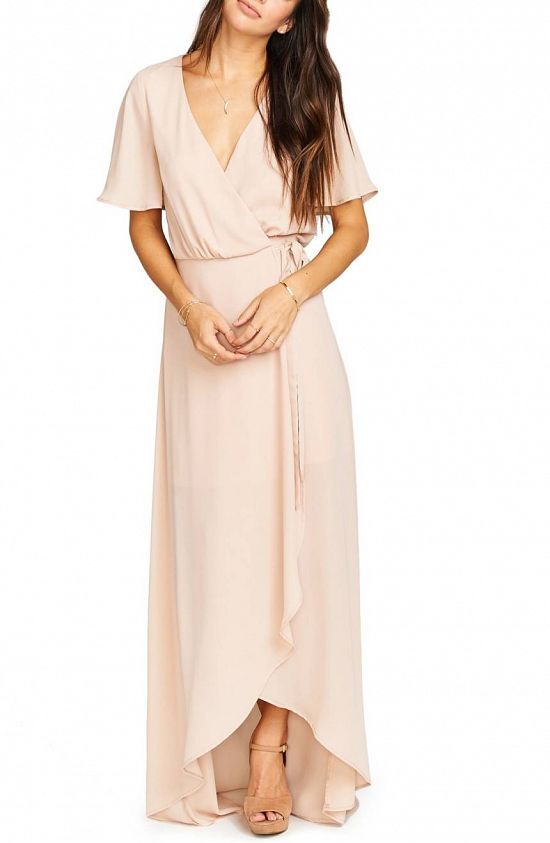 Sophia Wrap Bridesmaid Dress