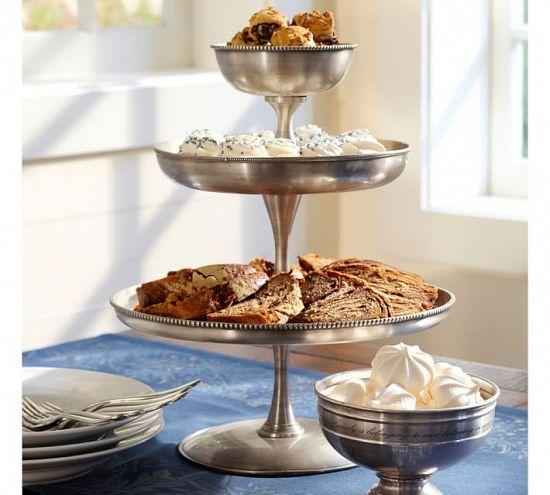 Antique Silver Round Dessert Stand