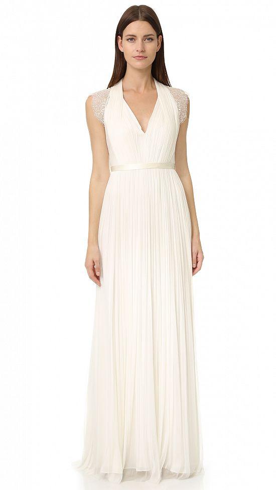 Delicate Cap Sleeve Gown