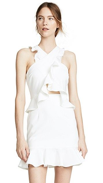 Cecile Ruffle Dress by Milly