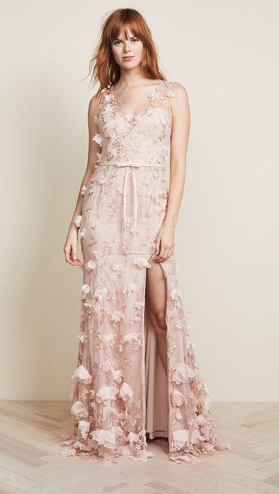 Blush Marchesa Notte Floral Gown