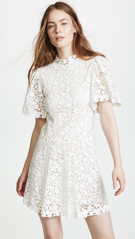 Floral Mini Honeymoon Dress