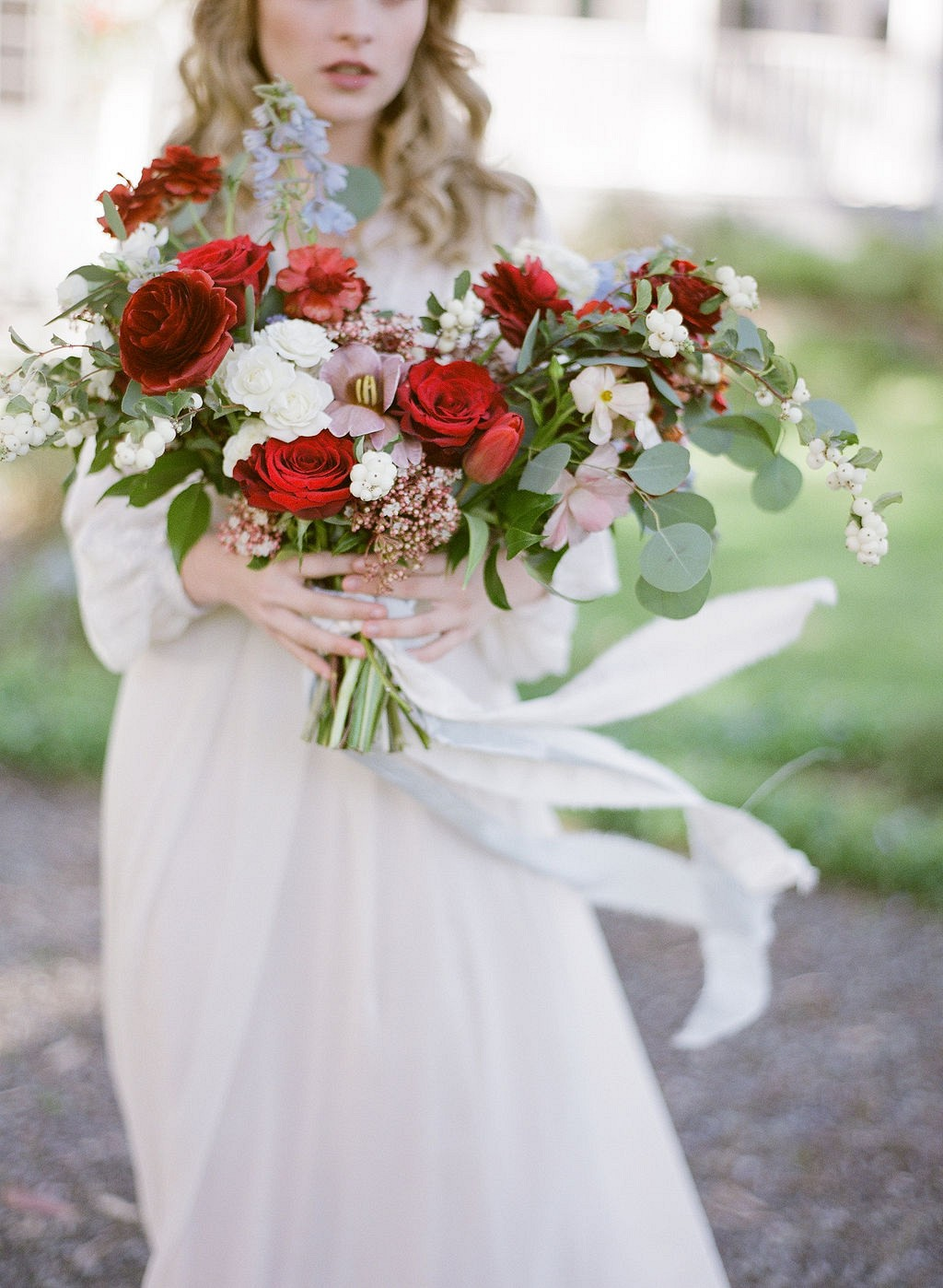 Intimate Boho Ranch Wedding Ideas with Pops of Red